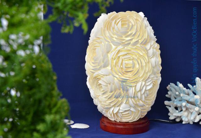 Đèn để bàn vỏ sò ốc kết hoa (bầu dục) ĐN48