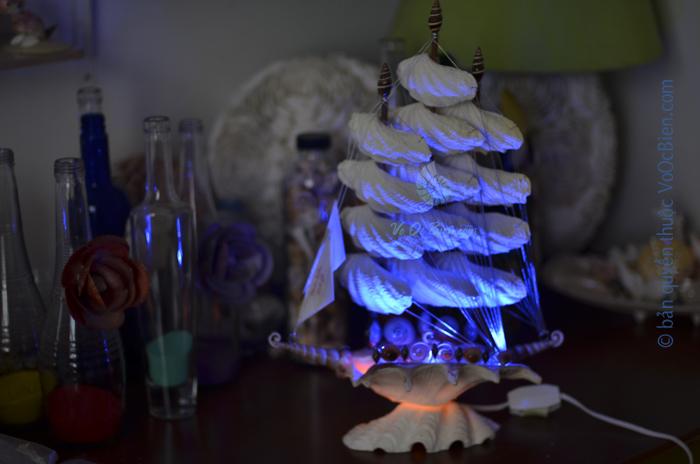 Đèn ngủ thuyền buồm vỏ ốc ĐN39