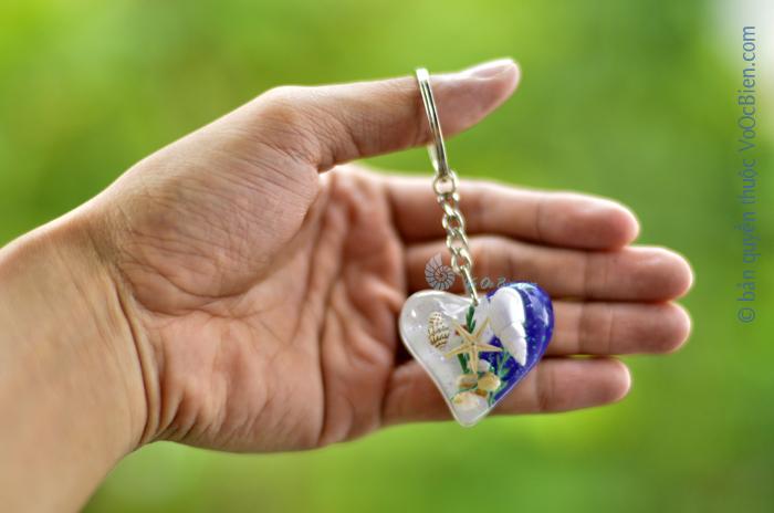Móc khoá vỏ sò ốc – trái tim MK_10