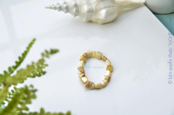 Lắc tay vỏ trai vàng LDT_38