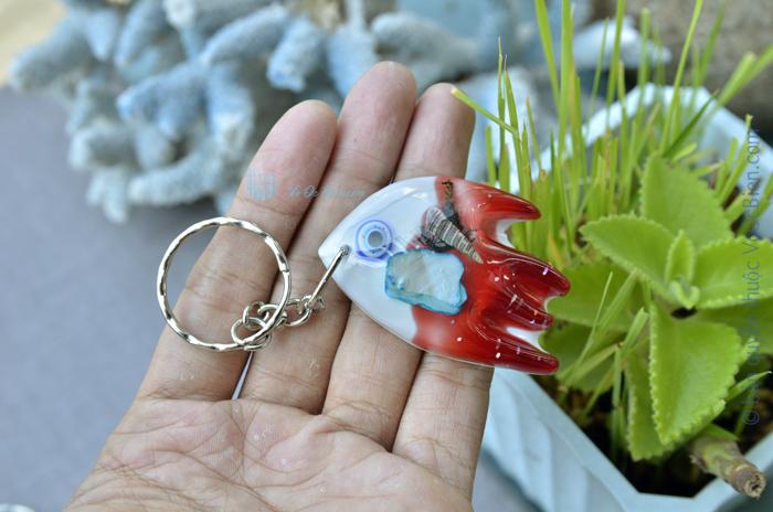 Móc khoá vỏ sò ốc – cá ông tiên MK_12