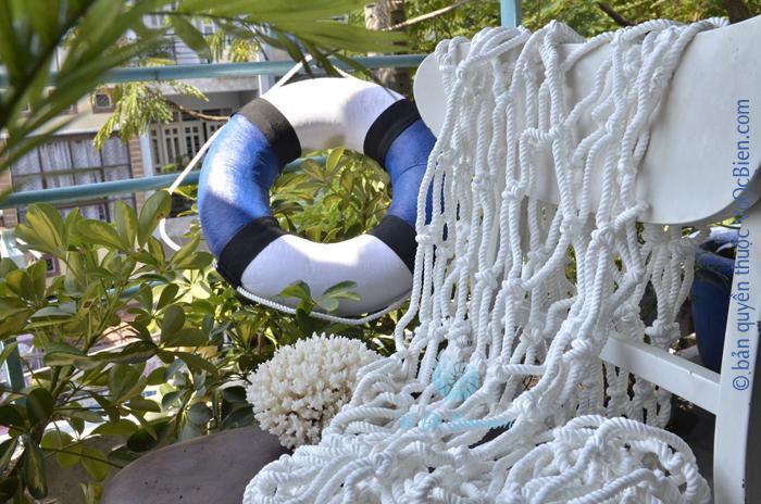 Lưới trắng trang trí vỏ sò ốc dây 1cm