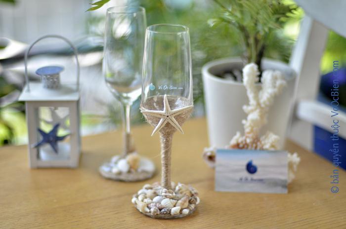 Ly rượu đính vỏ sò ốc LOTK28