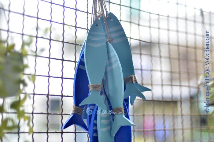 Cá cặp xanh phong cách biển 20cm TAG06