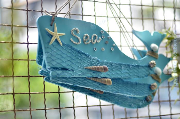 Cá voi xanh trang trí biển 38cm TAG04
