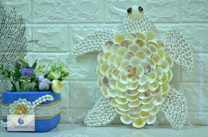 Rùa biển lưng hoa vỏ sò ốc TO32