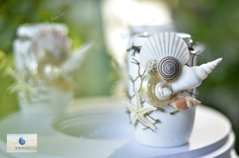 Lọ đính vỏ sò ốc biển LOTK39